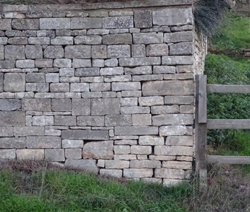 retaining wall, Hill House, Selsley Hill