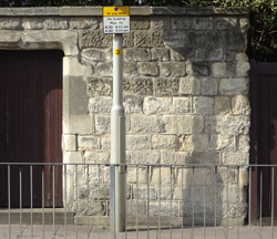 wall attached to, St Peters RC church, London Rd