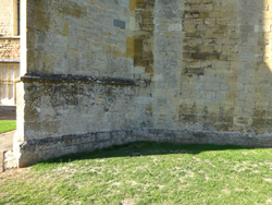 Abbey wall, SE side